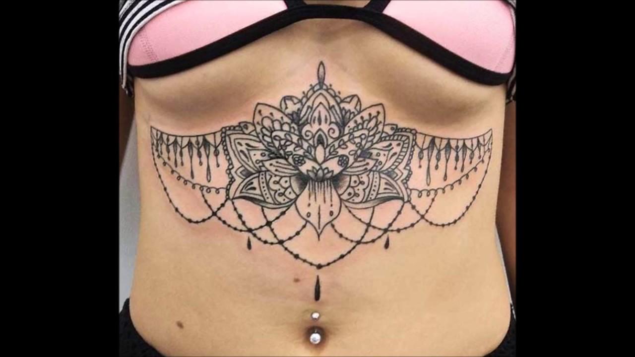 Tatuajes Para Mujer En El Abdomen Youtube