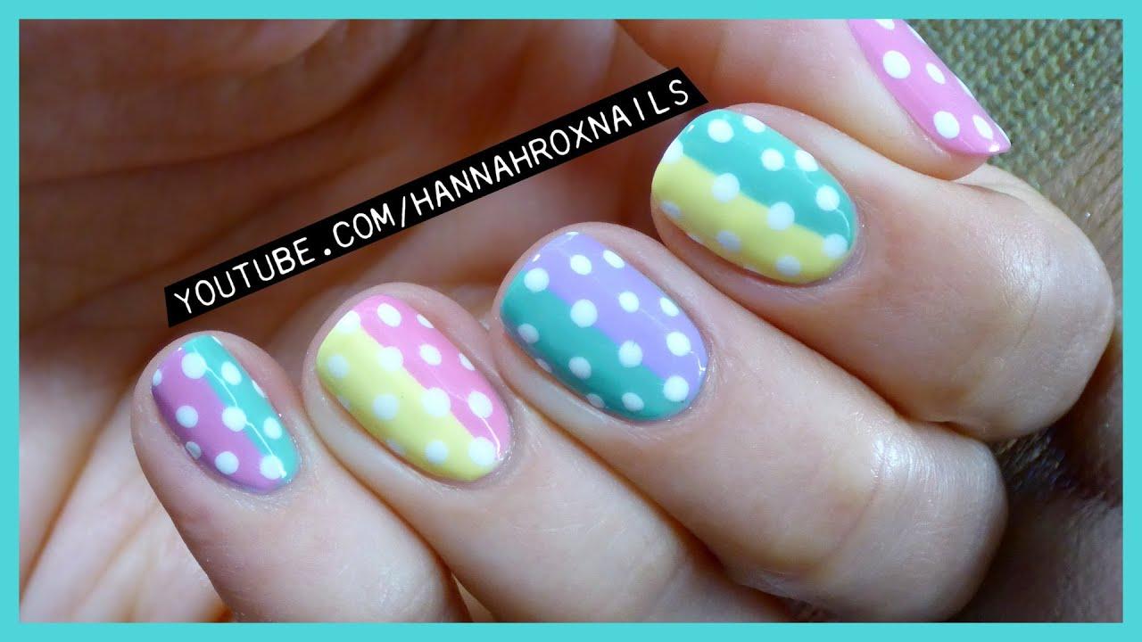 Cute pastel spring polka dot nail art youtube cute pastel spring polka dot nail art prinsesfo Choice Image
