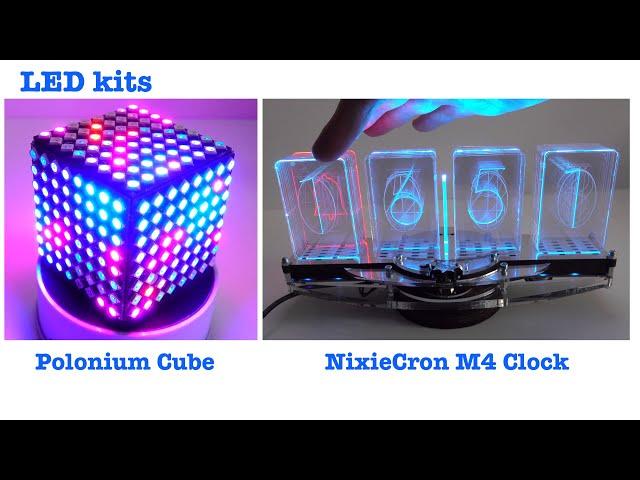 2020 LED Kits - Polonium Cube & Nixiecron M4 Clock