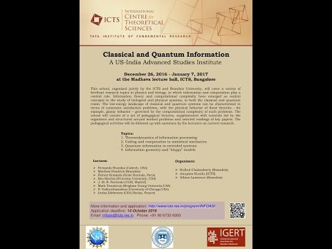 Journey trough statistical physics of constraint satisfaction.. by Lenka Zdeborova