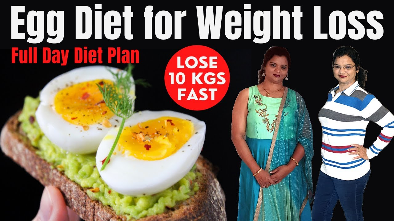 Egg Diet for Weight Loss - 1000 Calorie Diet Plan | How To ...