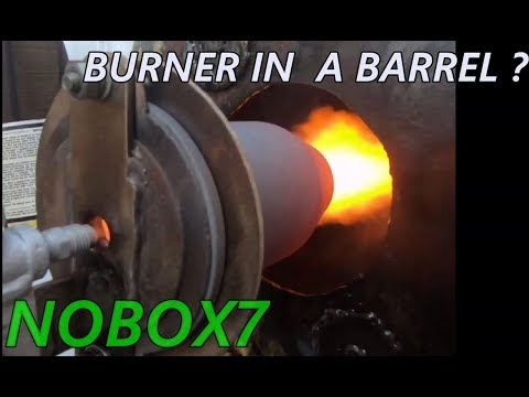 High Temp Vertical foundry or forge burner burns all fuels waste oil and gases