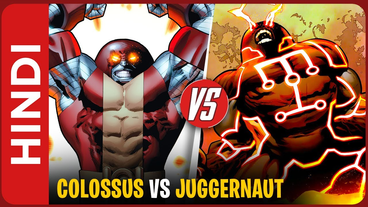 Juggernaut colossus vs Breaker of stone Kurth IN HINDI | Colossus becomes Juggernaut