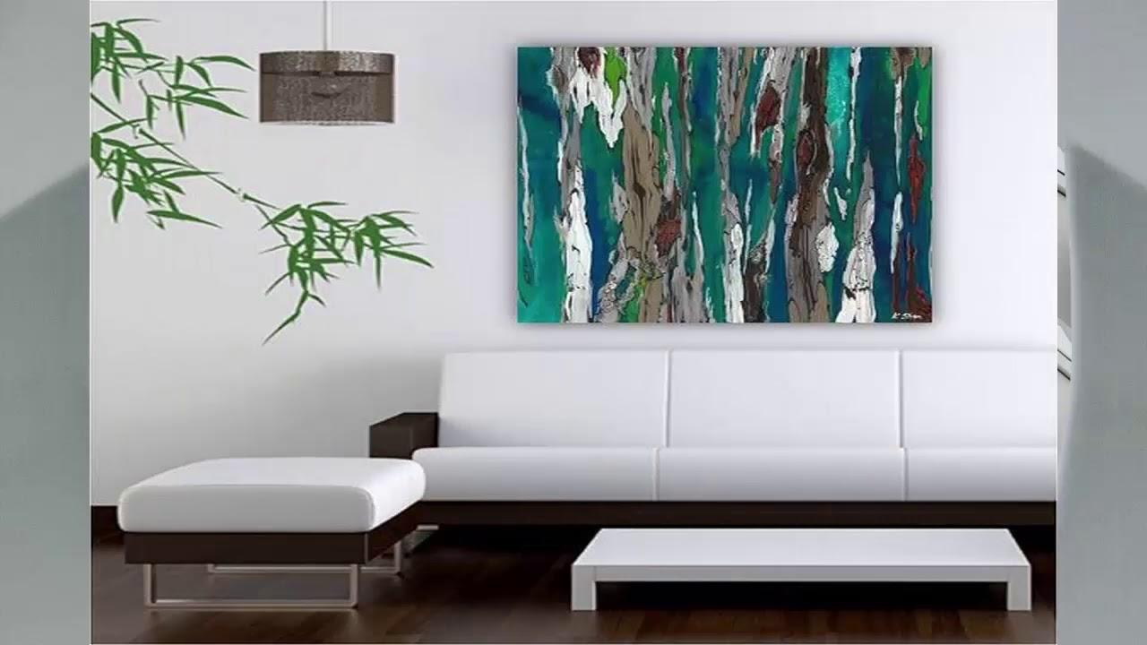 Wohnzimmer abstrakte wand kunst ideen youtube for Wand kunst wohnzimmer