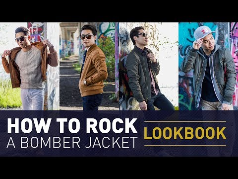 Bomber Jacket Outfit Ideas | Men's Flight Jacket Style Lookbook