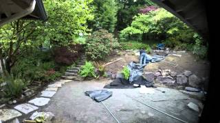Garden Renovation Time Lapse - Patio and Waterfall