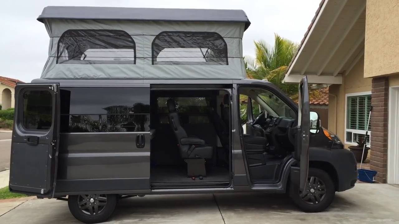 Dodge Promaster Van >> Promaster Weekender Campervan Pop TOP - YouTube