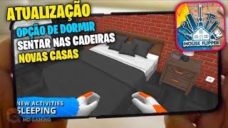 HOUSE FLIPPER MOBILE- ATUALIZAÇÃO COM OPÇÕES DE DORMIR SENTAR & PINTAR JANELAS & MUITO + ANDROID/IOS