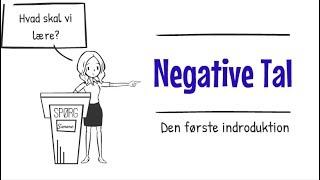 Den første introduktion - Negative tal