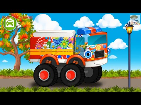 Car Wash Monster Truck | Car Wash Game For Kids | YOVO Games For KIDS | Kids TV Channel