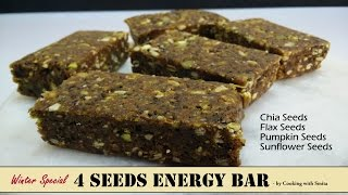 4 Seeds Energy Bar Recipe in Hindi by Cooking with Smita  How to make Energy Bars  Winter Special