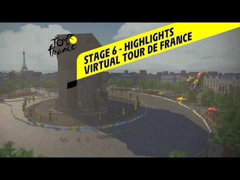Virtual Tour de France 2020 - Stage 6 - Highlights