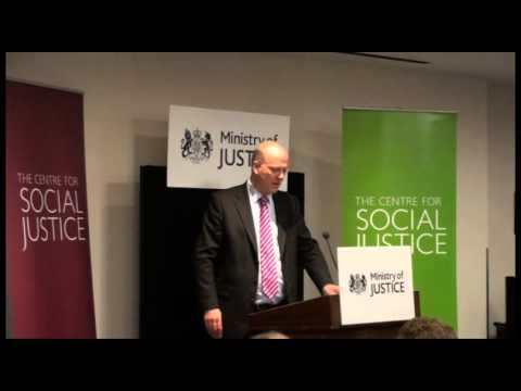 Chris Grayling - 'rehabilitation revolution'