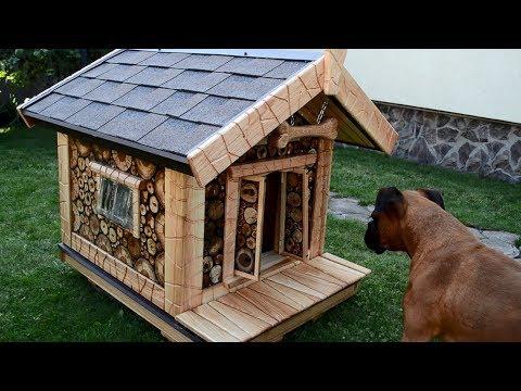 Mixed wood Dog House