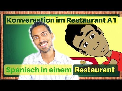 Spanische Vokabeln in einem RESTAURANT - Spanisch hören - Konversation A1 für Anfänger