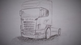 How to draw a truck Scania