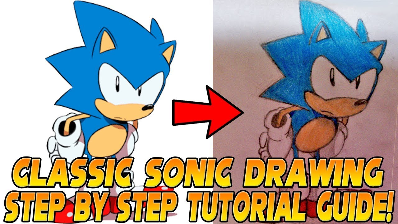How To Draw Sonic Step By Step Tutorial Tyson Hesse Sonic Mania Youtube