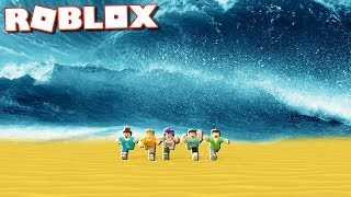 THE PALS vs. MEGA TSUNAMI IN ROBLOX!