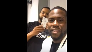 Kevin Hart at Twitter with Ice Cube