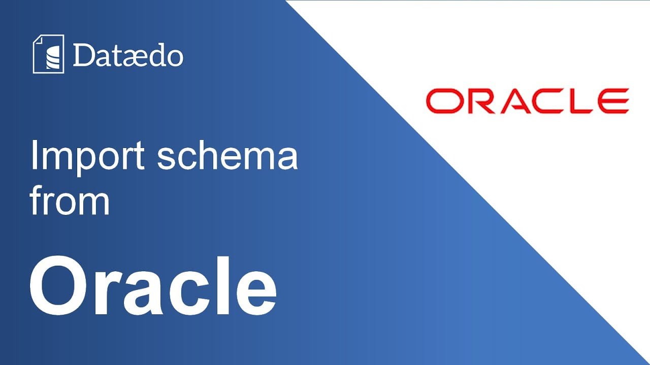 Connecting to Oracle database - Dataedo Documentation
