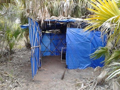 Urban Bushcraft Survival Camp Build (V433) Dollar Tree Tarp