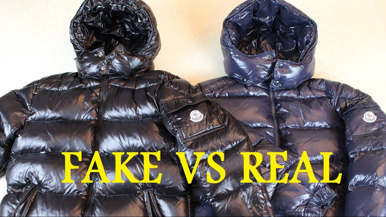 How To Spot a Fake Moncler Jacket REAL VS FAKE | Authentic vs Replica Moncler Maya Jacket - YouTube