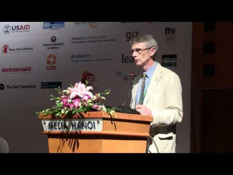 CDKN CEO, Sam Bickersteth closing the CBA6 Conference in Hanoi, Vietnam