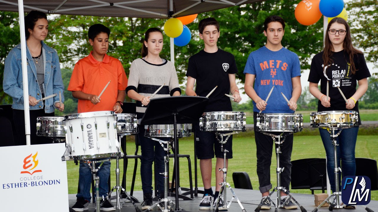 Drumline coll ge esther blondin relais pour la vie for College esther blondin piscine