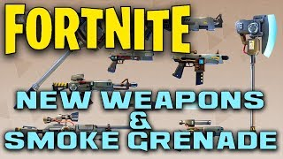 NEW WEAPONS!!! Vindertech Weapons Update & Smoke Grenades | Fortnite Information
