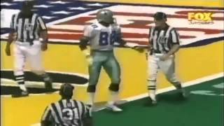 Michael Irvin catches a bomb from Troy Aikman for a touchdown