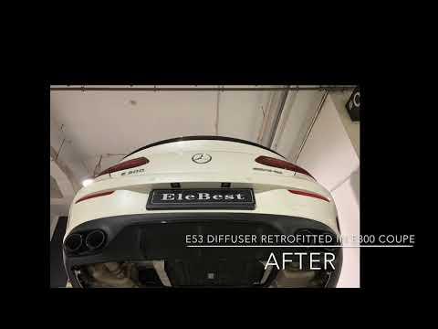 E53 Diffuser Retrofitted In E300 Coupe