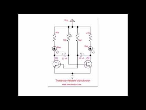 Simple 2 Transistor LED Blinker Circuit