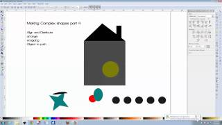 Making complex shapes part 4: Arranging, aligning, snapping, and object to path