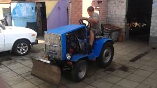 Мини трактор с мотором 2106 самодельный лебедянь