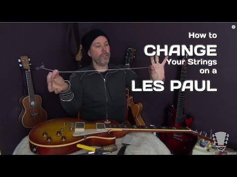 Changing Strings on a Gibson Les Paul Electric Guitar