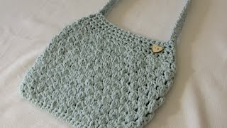 VERY EASY crochet puff stitch bag / purse tutorial