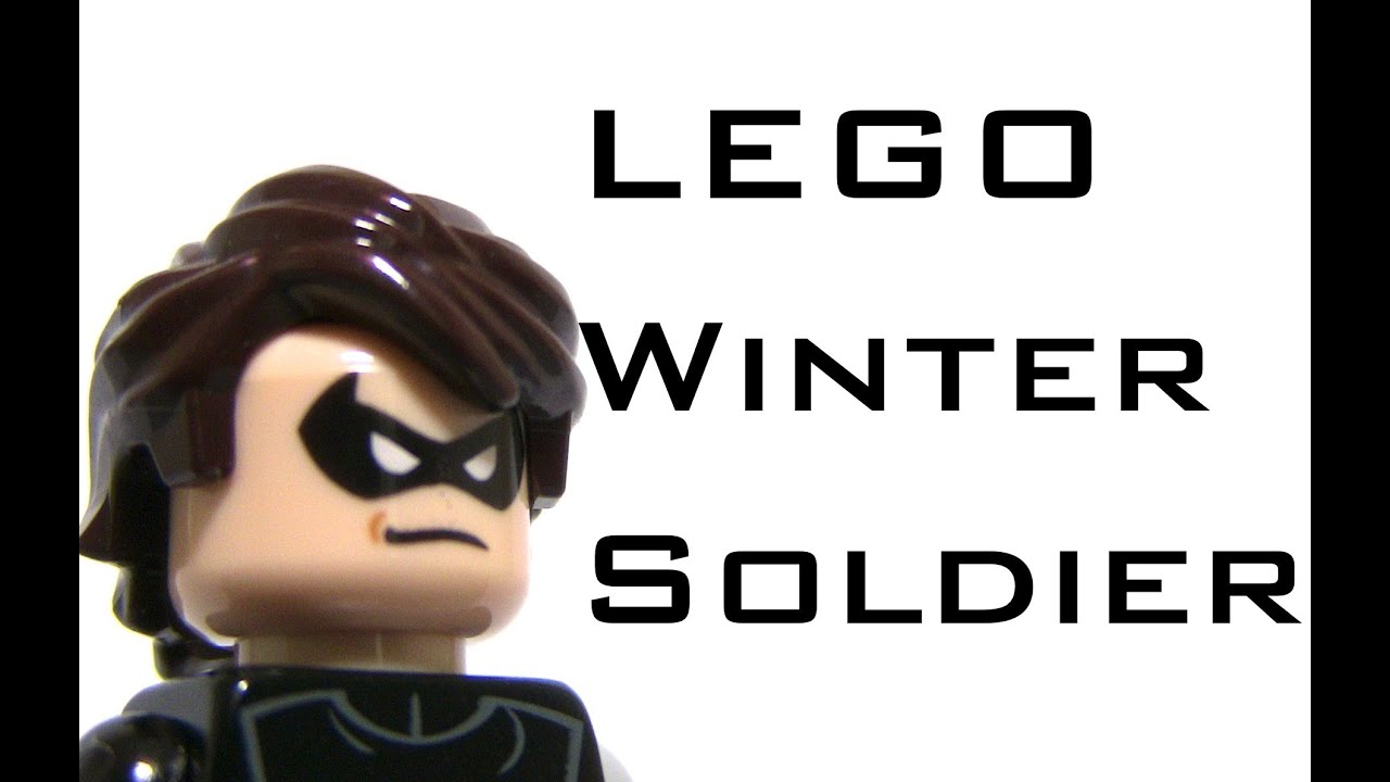 How To Make A LEGO Winter Soldier Minifigure YouTube - How to make homemade lego decals
