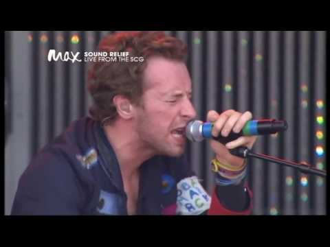 Coldplay - Clocks (live Sound Relief 2009) [HD]