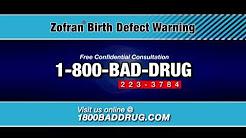 Zofran Birth Defects Warning 1-800-BAD-DRUG