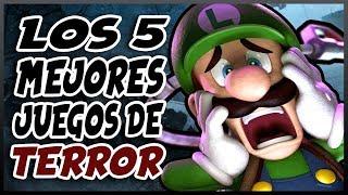 Los 5 MEJORES juegos de TERROR de Nintendo | Especial Halloween 🎃 - Top