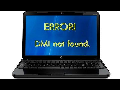Один из способов восстановления DMI в ноутбуке HP