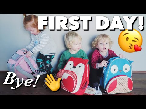 Triplets First Day of Childcare!