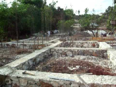 The Fam's house being built In Anse-a-Veau
