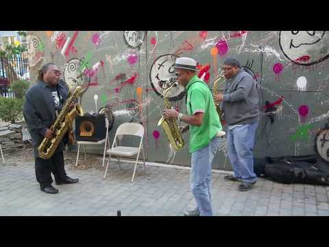 Collective Identity Saxophone Quartet - at First Street Green, NYC - Arts for Art - Oct 11 2014