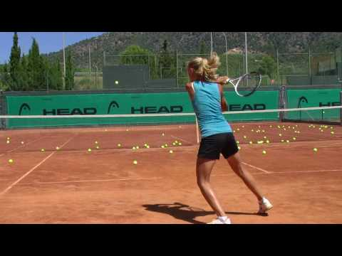 Diana Tokkar from Russia training at the Guillermo Vilas tennis academy Spain,