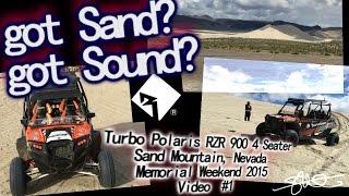 Got Sand? Got Sound? Turbocharged Polaris RZR 900 Ripping 600ft Dunes - Sand Mountain Nevada video 1