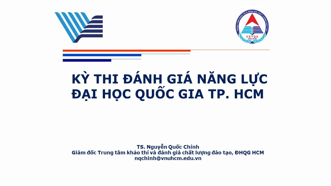 ÔN THI THPT QUỐC GIA 2019: Hướng dẫn làm bài thi đánh giá năng lực ĐH Quốc gia TP.HCM