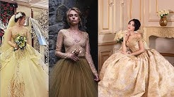 Top Gold Colour Wedding Dresses For Bride