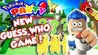 POKEMON PARTY! NEW MINIGAME! GUESS WHO?! ROBUX GIVEAWAY!