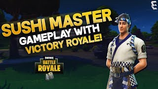 Sushi Master Skin Gameplay with Victory Royale!! - Fortnite Battle Royale Gameplay - Eakr